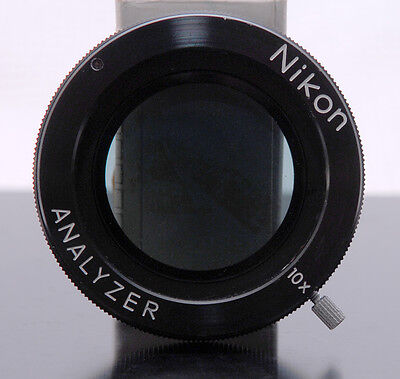 Nikon Rotatable Analyzerlinear Polarizer For Microscopecomparator Excellent