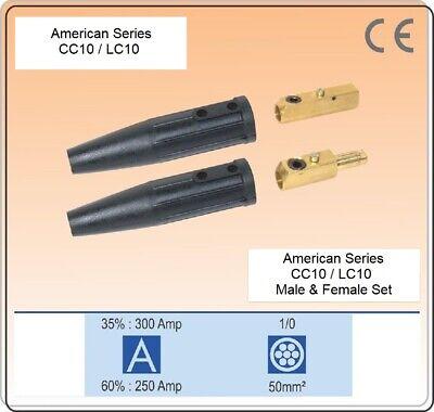 Welding Cable Connector Cc10lc10 Set Male Female Set Size 4-10 Twist Lock