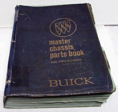 1940-1963 Buick Dealer Master Chassis Parts Book Catalog All Models Original