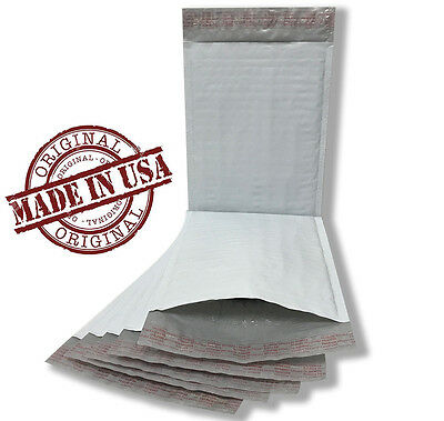 250 0 6 X 10 Poly Bubble Mailers Self Seal White Plastic Bags Envelopes 6x10