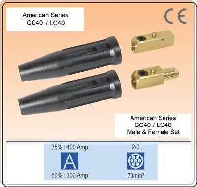 Welding Cable Connector Cc40lc-40 Set Male Female Set 10-20 Twist Lock