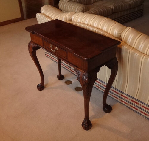 HENREDON Rittenhouse Square Mahogany Chippendale Console Table-Ball in Claw-EX!