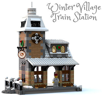 Constructibles Winter Village Train Station   Lego  Parts   Instructions Kit