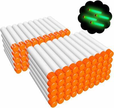 White Darts Glow At Dark Bullets Refill For Nerf N Strike Elite Modulus 100 Pcs