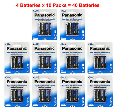 40x Panasonic AAA Batteries Heavy Duty Triple A 1.5v Wholesale Lot 4pk x 10 for sale  Shipping to India