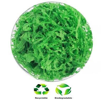 1KG Xmas Green - Hamper Shred Gift Box Packaging Soft Recyclable Shredded Tissue](Tissue Shred)