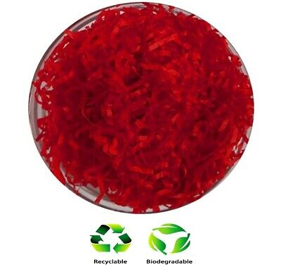 1KG Red - Hamper Shred Gift Box Packaging - Soft Recyclable Shredded Tissue](Tissue Shred)