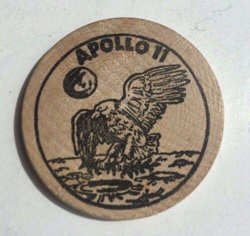 Apollo 11 Wooden Nickel The Eagle Has Landed Moon Nickel N-095