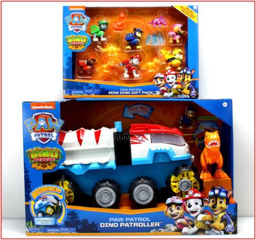 LOT 2- Paw Patrol MOTORIZED DINO PATROLLER Vehicle + 6 DINO PUPS + 6 Dinosaurs