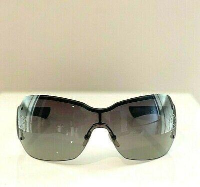 Gucci Authentic Ski Aviator Black Rhinestone Vintage Oversized Sunglasses