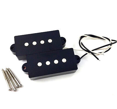 Black Ceramic Magnet Split Pickup for Fender & Squier Precision P Bass® PU-PBC-B
