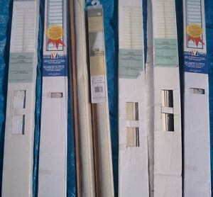 6 various size blinds all new for $30