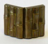 Brass bamboo design pill case