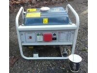 Light Compact Quiet Petrol Generator UK Mains 240v 1kVA Serviced