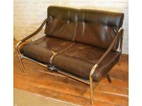 Mid century Pieff vintage sofa setee day bed chairs modernist retro vintage lounge leather