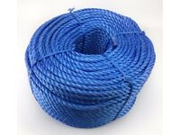 12mm Blue Polypropylene Yarn Rope x 220m Coils, Brand New, Blue Poly Rope