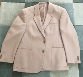 "Gents Blazer .size 44"" Brand New never worn ..colour Fawn matching buttons .."