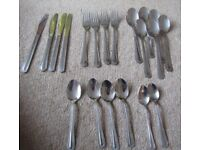 24 Piece Cutlery Set Viners Stainless Steel Dot Pattern