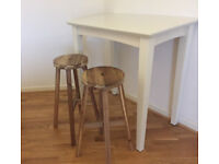 M&S Bar Table and 2 Ikea Bar Stools