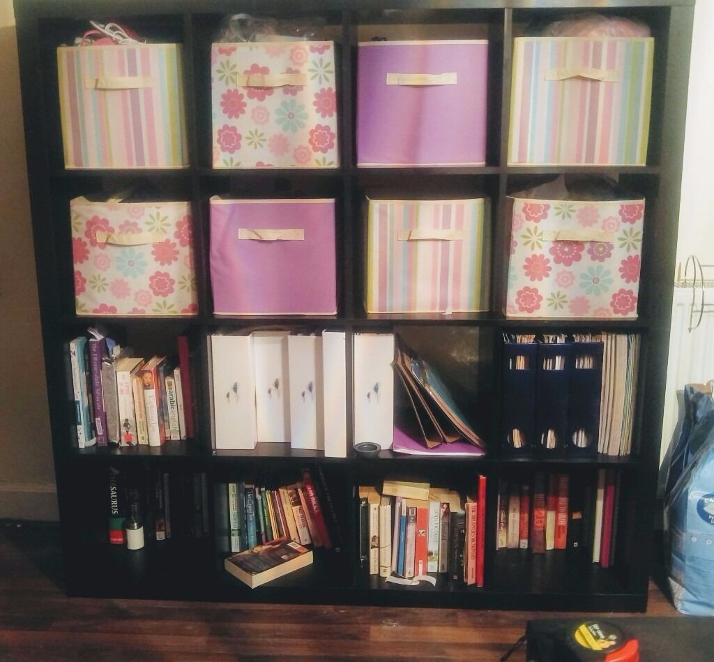 Ikea 4 x 4 cube storage or bookcase unit kallax or for 4 cube organizer ikea