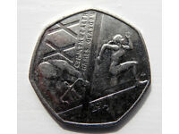 COMMONWEALTH GAMES GLASGOW 50p COIN