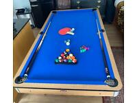 3 in 1 Pool Table, Table Tennis & Darts