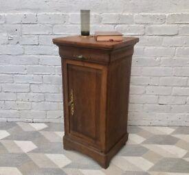 Vintage Bedside Cabinet Cupboard Brass Handles #442
