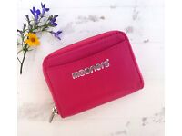 Pink Leather purse wallet. New