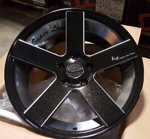 NEW!! 17 and 18 METALLIC BLACK and milled WHEELS and TIRES!! ---- CUSTOM COLOR!!  - LG25