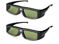 2 SainSonic Zodiac 904 144Hz Rechargeable 3D DLP-Link Projector Universal Active Shutter Glasses,