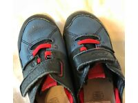 Clarks Shoes for boys size 9.5. Very good quality. Very good brand. Long lasting.