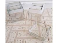 Glass storage jars and ceramic biscuit jar