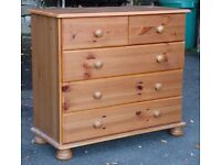 5 drawer and 9 drawer pine chests