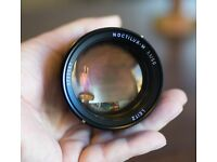 Leica Noctilux-M 50mm F/1 with Leica Leather Case