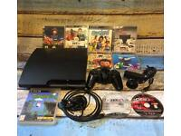 Ps3 slim 160GB bundle 9 games , controller , camera