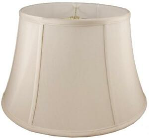 American Pride Lampshade Co. 04-78090420A Round Soft Tailored Lampshade, Shantung, Light Beige