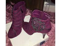 Purple Boots New