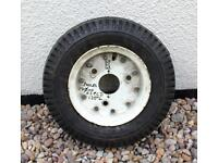 "TRAILER WHEEL AND TYRE (3 Studs) - 9"" wheel rim with a 4.80/4.00-8 tyre"
