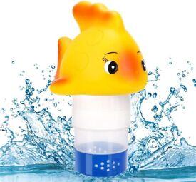 NEW RenFox Floating Dispenser Chlorine, Goldfish Chemical Floater with Adjustable Dispensing Rate