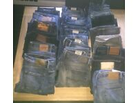Diesel, Hugo Boss, Replay, Superdry, YSL, Edwin, All Saint jeans, new with tags and used,