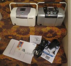 2 Epsom Picture-mate home photo printers + bits and bobs