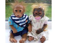 2x ASHTON DRAKE monkeys
