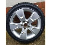 Skoda VW 16 inch alloy wheel and new 205 45 16 tyre (Fits Fabia and many other VW skoda cars)