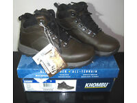 KHOMBU All Weather All Terain Ravine Leather Hiker Boots Waterproof Tough Warm