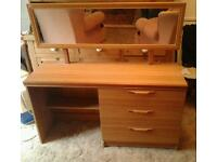 Teak dressing table with mirror