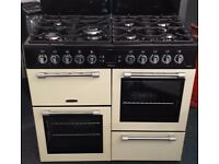 Leisure 100cm wide range double oven and grill gas cooker