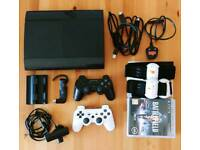 PlayStation 3 (500GB, SuperSlim) plus 11 Games and Extras