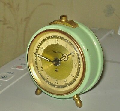 ANTIQUE WIIRAHNER ALARM CLOCK MADE IN WESTERN GERMANY