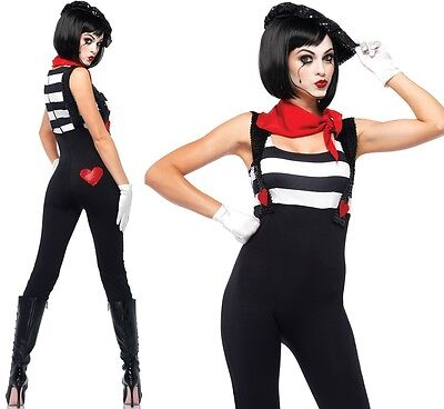 Marvelous Mime Costume, Leg Avenue, French, Halloween, 8-16, Fancy Dress, Street