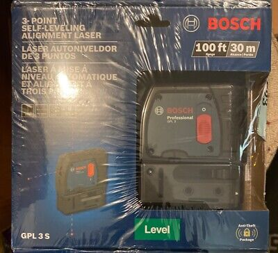 Bosch GPL3 3 Point Self Leveling Alignment Laser New